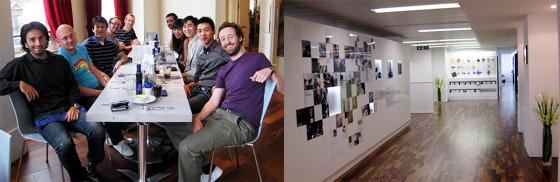 LG전자 유럽디자인센터 직원 단체 사진