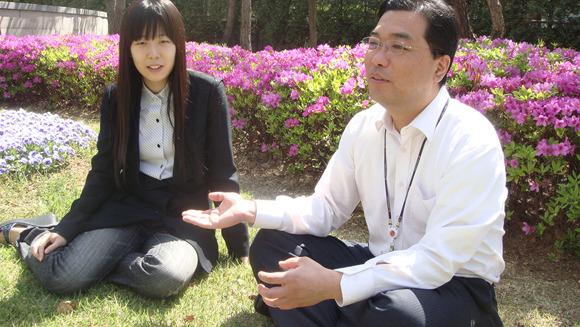 곽재도 책임님과 유혜진 주임님의 인터뷰 사진