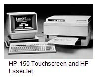 HP-150 Touchscreen and HP LaserJet