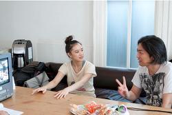 아오이 유우와 스태프의 모니터링 모습