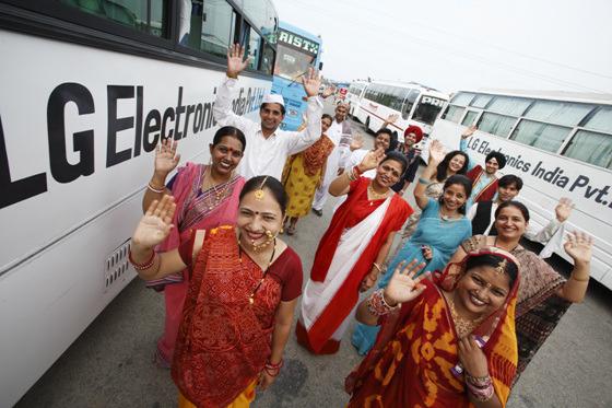 인사하는 인도 사람들