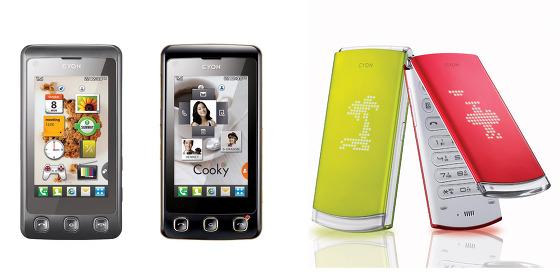 쿠키폰과 롤리팝폰 제품 사진