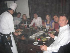 파워 블로거들과의 저녁식사 사진