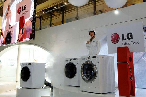 LG부스 세탁기 홍보 현장