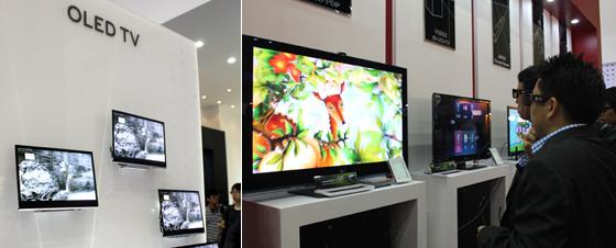 OLED TV 관람 모습