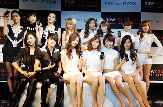 소녀시대와 에프엑스 사진