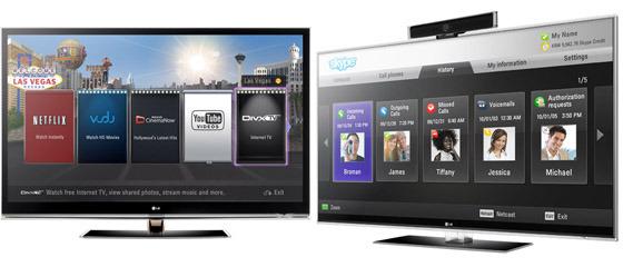 LG의 브로드밴드 TV 제품 사진