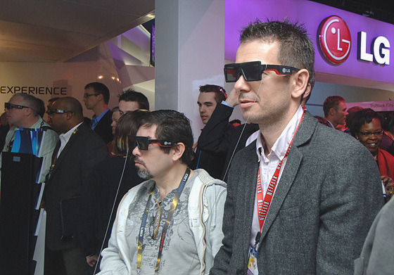 3D TV 체험 모습