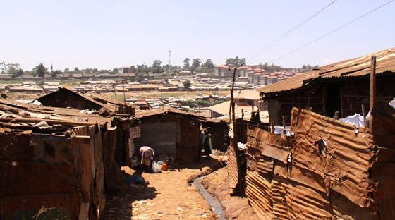 케냐 슬럼가 사진
