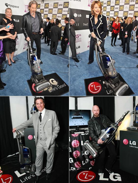 LG 청소기와 영화배우 사진