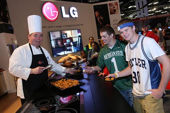 LG 브랜드 체험 모습