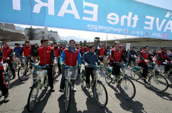 자전거 대회 사진
