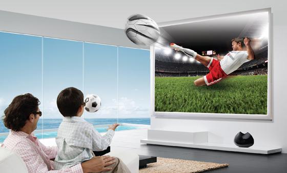 3D TV 광고 이미지