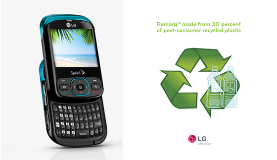 동글한 디자인의 휴대폰 제품 사진