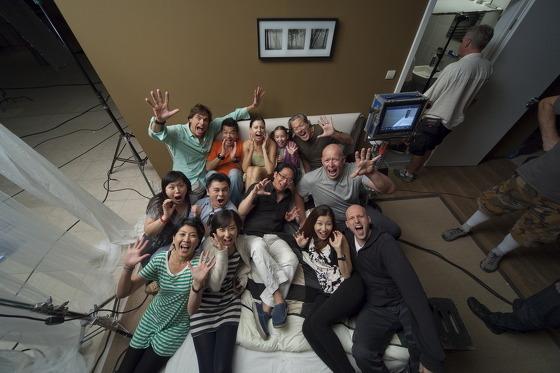 촬영 후 단체 사진