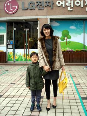 LG전자 어린이집 가는 강일이 사진