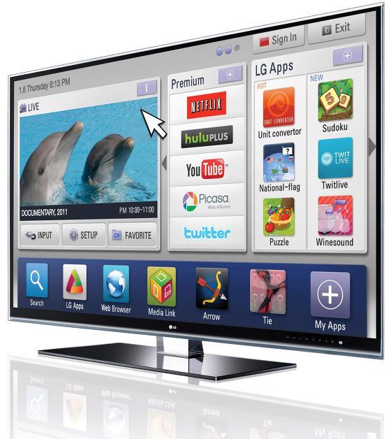 LG 스마트 TV 제품 사진