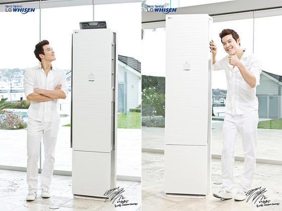 박태환 휘센 광고 사진