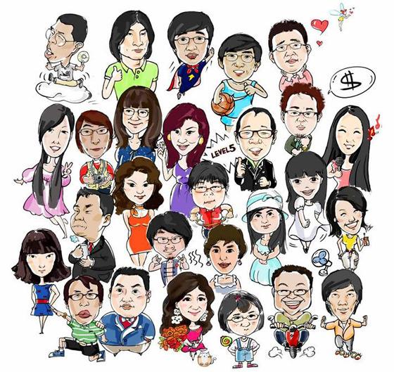 중국 디자인분소 팀원 이미지