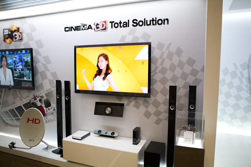 3D TV 광고 사진