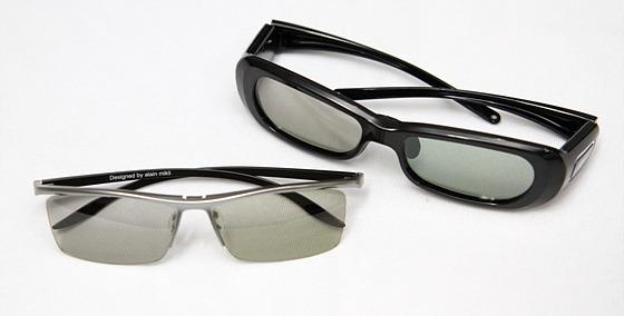 FPR 방식 안경과 SG 방식의 안경 제품 사진
