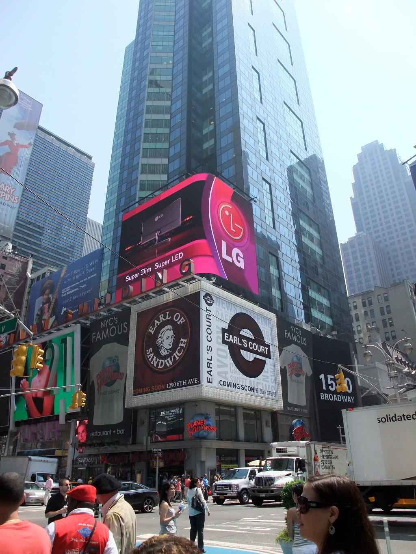 타임스퀘어 LG광고판 사진