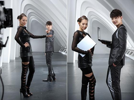 신민아, 송중기 광고 촬영 현장