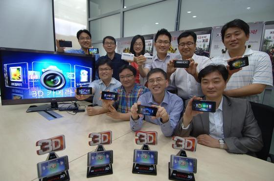 옵티머스 3D 개발팀 사진