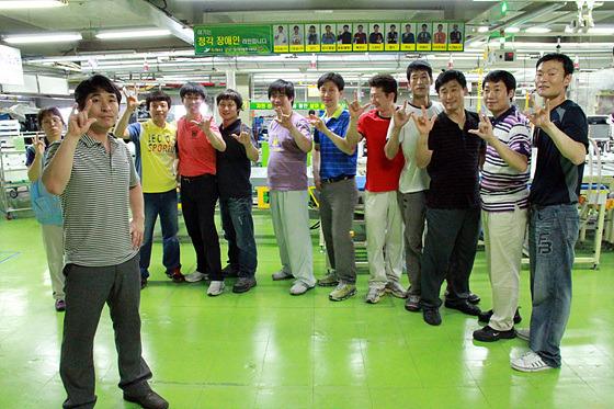 LG전자 청각 장애인 단체 사진