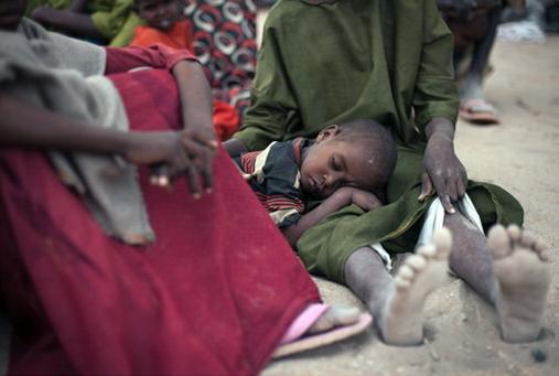 국제난민 캠프 현장