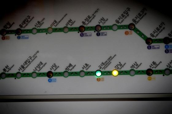 지하철 노선도 사진