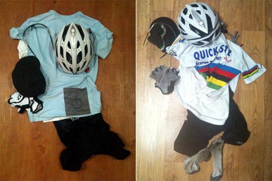 헬멧, 옷, 장갑 사진
