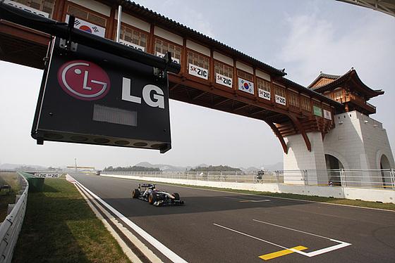 F1 그랑프리 경주 현장