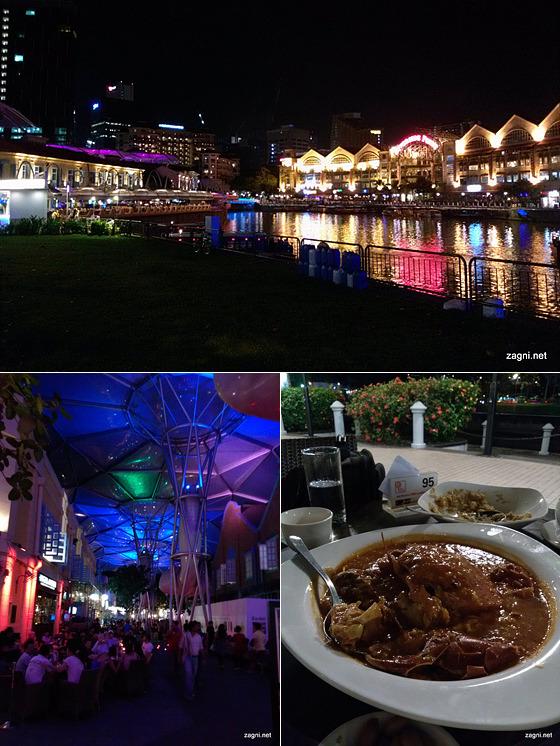 싱가포르 거리와 음식 사진