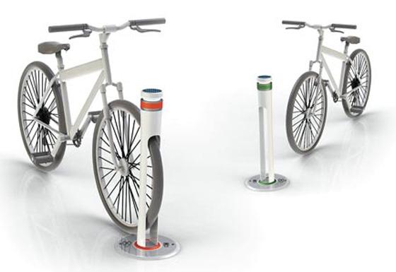 자전거 거치대 사진
