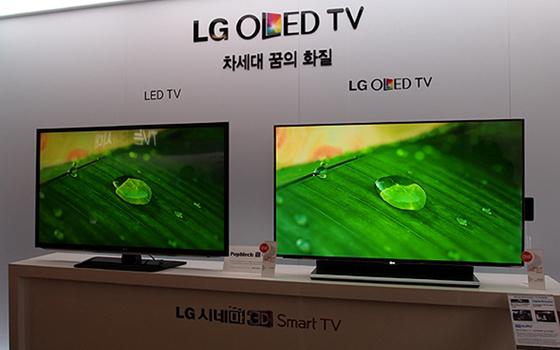 LG OLED TV 비교 사진
