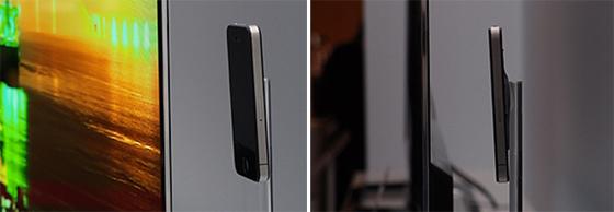 55인치 OLED 3D TV 측면 두께 사진