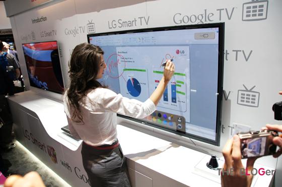구글 TV 전시 현장
