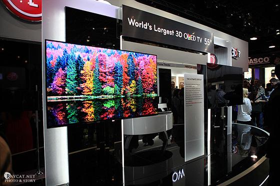 OLED TV 55인치 전시 현장