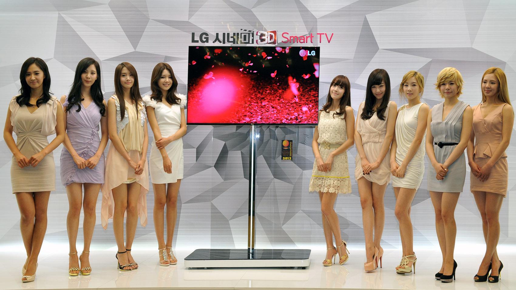 LG 시네마 3D Smart TV와 광고모델 소녀시대 사진