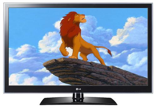3D TV 속 라이온킹 사진