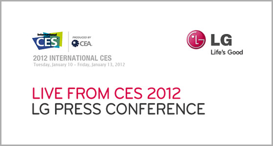 LIVE FROM CES 2012 LG PRESS CONFERENCE