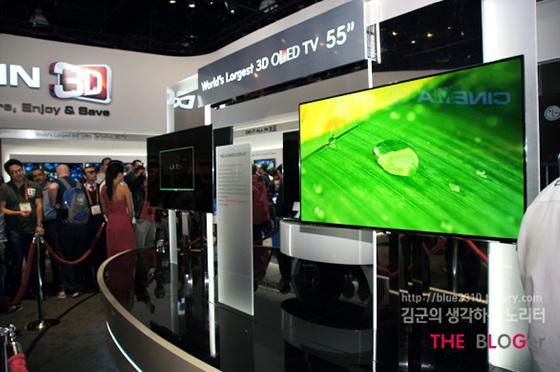 LG 전자 3D OLED TV 55인치 전시 현장